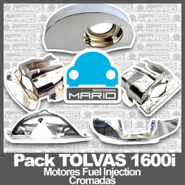 Pack de Tolvas CROMADAS de Motor para Vw Sedan (Motores 1600 Fuel Injection)