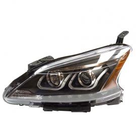 Faros Principales con fondo Negro, Ojo de Ángel y perfil LED para Sentra B17
