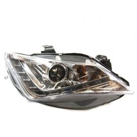 Juego de faros Principales con fondo Negro, Ojo de Ángel y perfil LED para Ibiza Mk4