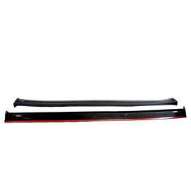 Par de estribos con textura de panal y moldura metálica para Golf A3, Jetta A3