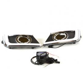 Par de rejillas de facia delantera con direccionales LED para Sentra B17