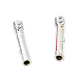 Par de seguros de puerta tipo micrófono cromados para GolfA2, A3, Jetta A2, A3, Derby, Pointer
