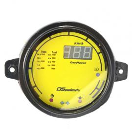 Velocímetro Digital con lectores luminosos y caratula color Amarillo para V.W. Sedan 1600, 1600i, Combi 1600