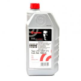 Botella Mediana de Líquido de frenos Brembo Grado DOT 5.1 para servicio pesado.