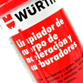 Limpiador en aerosol de cuerpo de aceleración y carburadores WURTH
