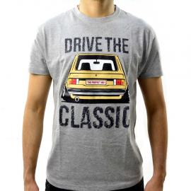 Camiseta gris Talla Chica con estampado Drive the Classic  Caribe