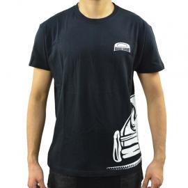 Camiseta negra Talla Chica con estampado de perfil  Vocho Classic