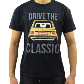 Camiseta negra Talla Chica con estampado Drive the classic, The perfect Mk1