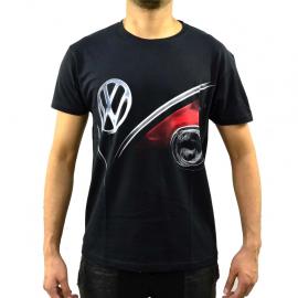 Camiseta negra Talla Chica con estampado Frente Combi Classic