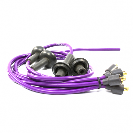 Juego de cables conectores de bujías con Revestimiento de Silicón ...