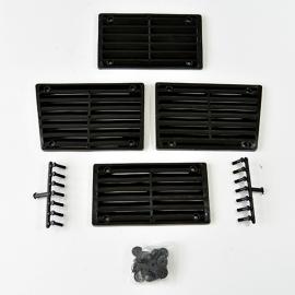 Juego de Rejillas de Tapa de Motor Color Negro para VW Sedan 1600, 1600i
