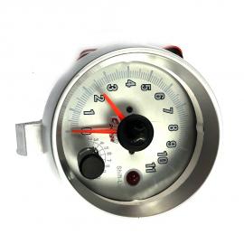 Tacómetro Universal de 3.7 Pulgadas Con caratula luminosa y perilla selectora.