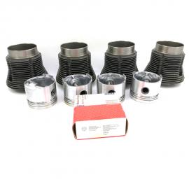 Conjunto de Motor MAHLE con Pistones PLANOS para VW Sedan 1600, Combi 1600, Brasilia, Safari, Hormiga