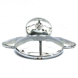 Juego de 4 Tapones Cromados de Rin con Emblema Volkswagen Miller para VW Sedán, Combi, Safari, Brasilia