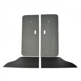 Juego Completo de Tapas Acolchadas de Puertas y paneles Traseros Color Negro para Atlántic, Caribe 2 Puertas