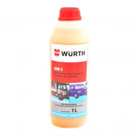 Botella de Detergente liquido con Cera WURTH para lavado de vehículos.