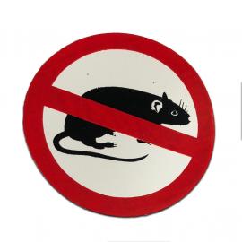 """Calcomania """"Rata anti Rateros"""""""