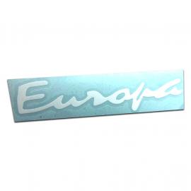 """Calcomania """"Europa"""" Blanca"""