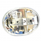 Base CROMADA de Calavera y Porta Focos para VW Sedan 1600, 1600i Tipo Europa