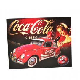 Cuadro Decorativo con la Imagen de VW Sedan 1200 COCA COLA Tamaño Mediano