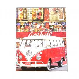 Cuadro Decorativo con la Imagen de Combi Rojo COCA COLA Tamaño Mediano
