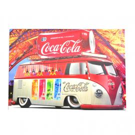 Cuadro Decorativo con la Imagen de Combi Coca Cola en Paris Tamaño Mediano