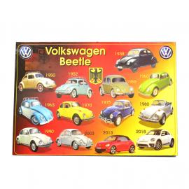 Cuadro Decorativo con la Imagen de las Generaciones del VW Sedan Tamaño Mediano