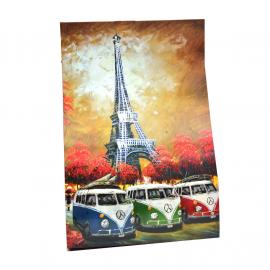 Cuadro Decorativo con la Imagen de 3 Combis 1200 Estilo Impresionista Tamaño Grande