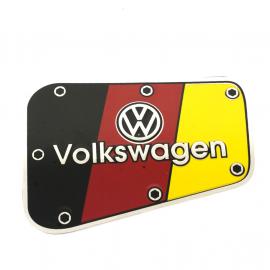 Mascara Metálica de Tapa de Gasolina Volkswagen Germany para VW Sedan 1600, 1600i
