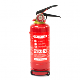 Extinguidor Recargable Color ROJO con Base para Uso Automotriz