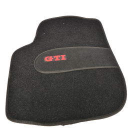 Juego de Tapetes de Alfombra y Hule con Emblema GTI para Golf y Pointer
