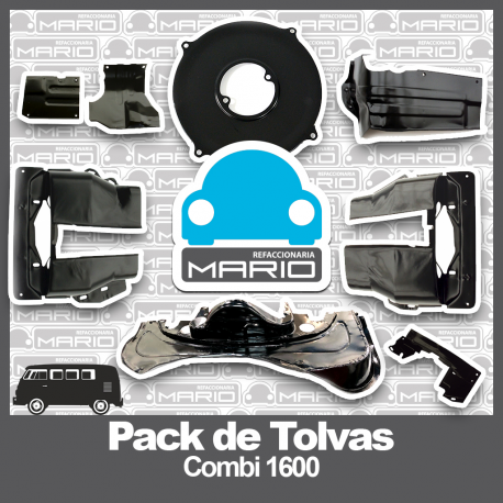 Pack de Tolvas Negras de Motor para Combi 1600