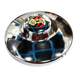 Tapón Cromado de Rin con Saliente de Tipo Porsche para VW Sedán 1600, Combi, Safari, Brasilia