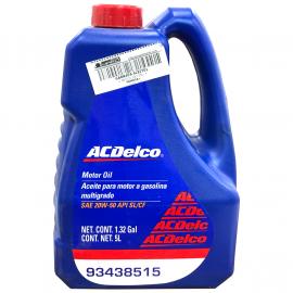Garrafa de Aceite de Motor AC Delco Multigrado Mineral SAE 20W-50
