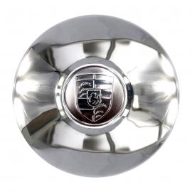 Tapón metálico de rhin con emblema PORSCHE para V.W. Sedan, Combi, Safari, Brasilia.