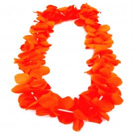 Collar de Flores Color Naranja Estilo Hawaii