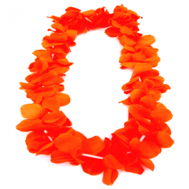 Collar de Folres Color Naranja Estilo Hawaii