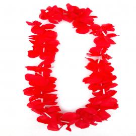 Collar de Folres Color Rojo Estilo Hawaii