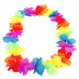 Collar de Flores Multicolor Estilo Hawaii