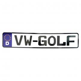 Placa Estilo Europa para Modelos Golf