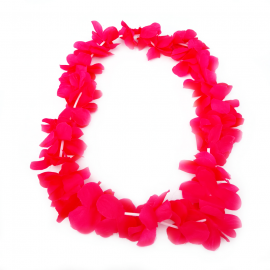 Collar de Folres Color Rojo Estilo Hawaii