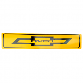 Placa Amarilla Decorativa Tipo Europea para Aveo