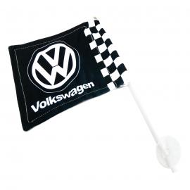 Bandera con soporte de Ventosa Volkswagen color Negro