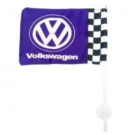 Bandera con soporte de Ventosa Volkswagen color Azul