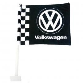 Bandera con Soporte de Ventana Volkswagen color Negro