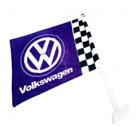 Bandera con Soporte de Ventana Volkswagen color Azul