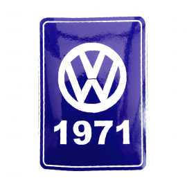 Calcomanía VW Generación 1971 Color Azul para VW Sedan, Combi