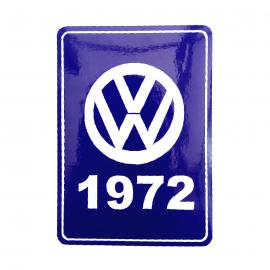 Calcomanía VW Generación 1972 Color Azul para VW Sedan, Combi