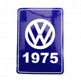 Calcomanía VW Generación 1975 Color Azul para VW Sedan 1600, Combi, Safari, Brasilia