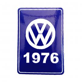 Calcomanía VW Generación 1976 Color Azul para VW Sedan 1600, Combi, Safari, Brasilia